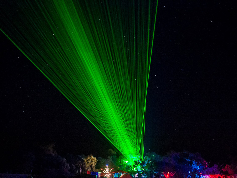 Maitreya Festival 40w YAG laser show